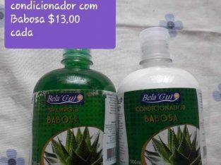 Shampoo e condicionador de babosa