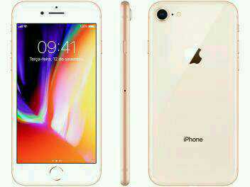 "iPhone 8 Apple 64GB Dourado 4G Tela 4,7"" – Retina Câm. 12MP + Selfie 7MP iOS 11"