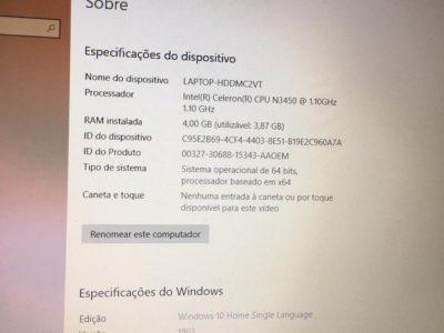 Notebook Asus VivoBook Max X541N – Celeron Quad Core 4gb e 500gb de hd