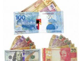 Carteira Slim Modelo Dinheiro